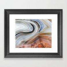 Marble Lined Framed Art Print