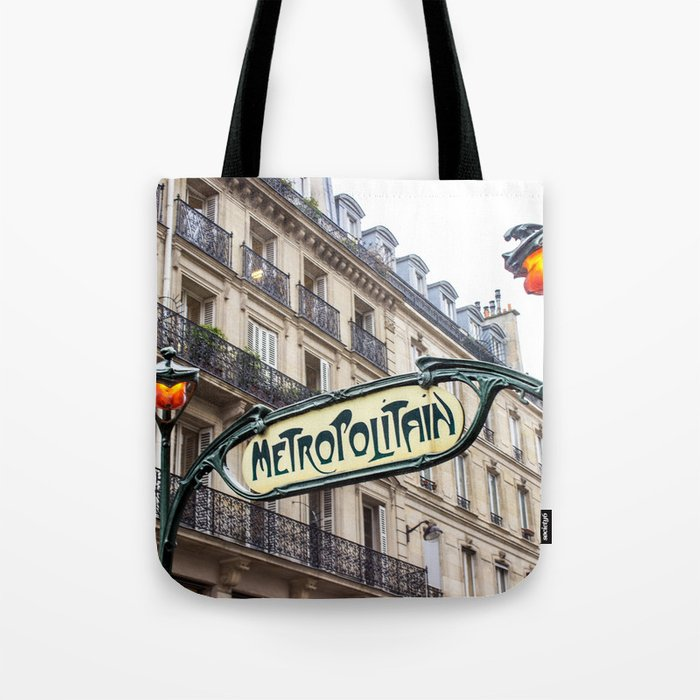 Metropolitain in Paris Tote Bag