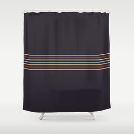 Multicolor Fine Lines Shower Curtain