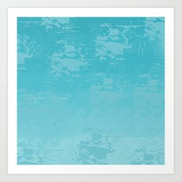 Icy Blue Abstract Art Print