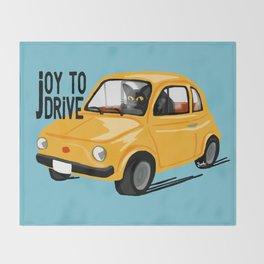 Joy to drive Throw Blanket