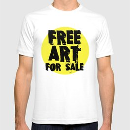 Free Art for Sale (yellow) T-shirt