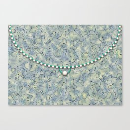 Smokey Pattern with Pearls Canvas Print