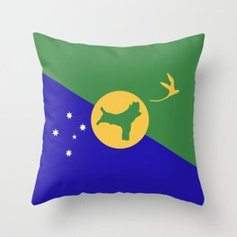 Christmas Island flag emblem Throw Pillow