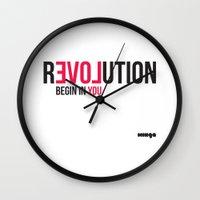 revolution Wall Clocks featuring Revolution by Estudio Minga | www.estudiominga.com
