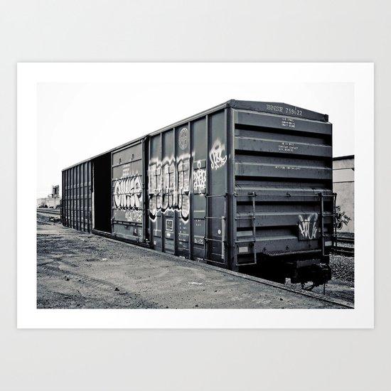 Train car Art Print