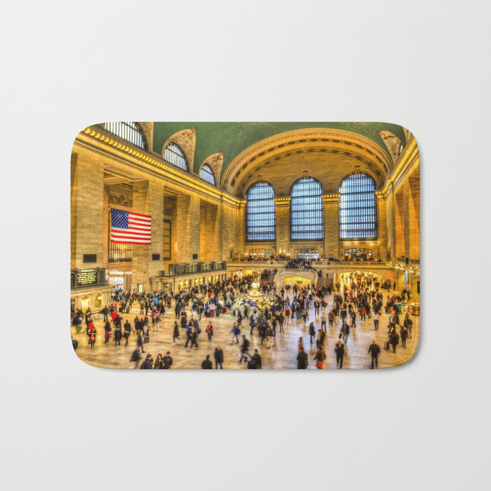 Grand Central Station New York Bath Mat by Davidpyatt BMT8584008
