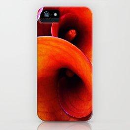 Orange Calla Lillies iPhone Case