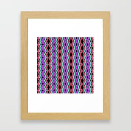 Bright Cheveron Framed Art Print
