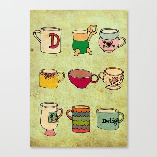 My Mugs! Canvas Print