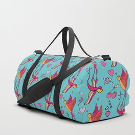 Rockabilly Swallow Duffle Bag