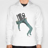 hip hop Hoodies featuring Hip-Hop by Mariana Baldaia
