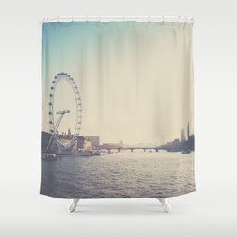 looking back ...  Shower Curtain
