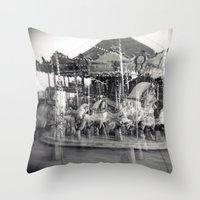carousel Throw Pillows featuring Carousel by Ibbanez