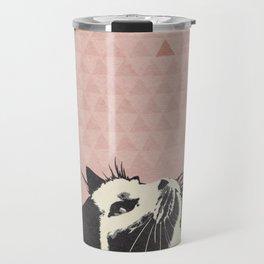 Cat on Pink - Lo Lah Studio Travel Mug