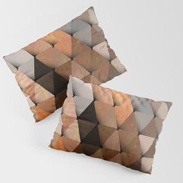 Triangles Brown Gray Pillow Sham