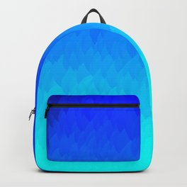 Blue ombre flames Backpack