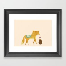 The Fox and the Hedgehog Framed Art Print