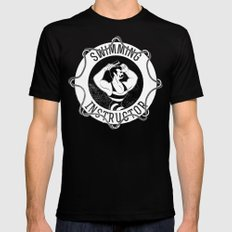 Swimming instructor Black MEDIUM Mens Fitted Tee