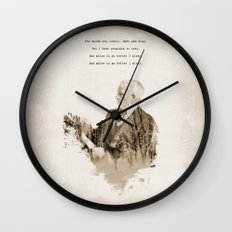 Miles To Go, Before I Sleep. Wall Clock