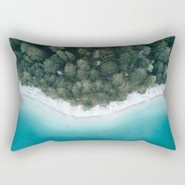 Green and Blue Symmetry - Landscape Photography Rectangular Pillow