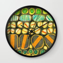 Vintage Decorated Round Shapes Pattern Wall Clock