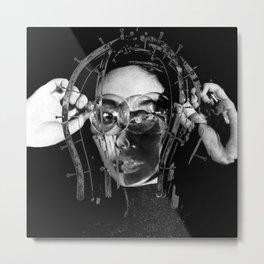 Caged Headed Girl Metal Print