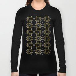 Gold and Silver Rings Polka Dot Pattern Long Sleeve T-shirt