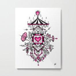LOVE grows calliope Metal Print