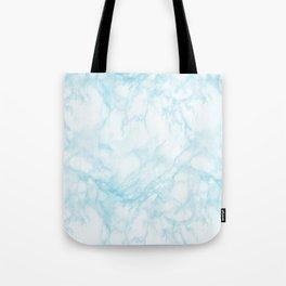 Elegant pastel blue white modern marble Tote Bag
