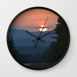 Maine Sunset Wall Clock