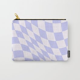 Warped Check - Periwinkle  Carry-All Pouch
