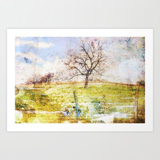 1tree_spring Art Print