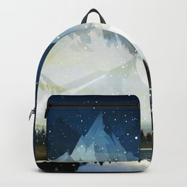 Mountain Lake Under the Starlight Backpack