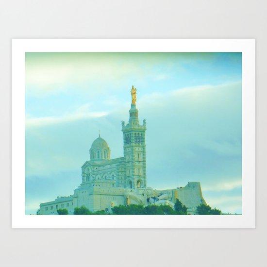 Notre Dame de la Garde (Marseille) Art Print