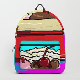 """A Banana Split with """"the works"""" Backpack"""