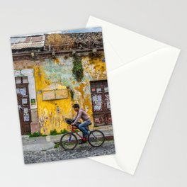 Antigua by bicycle Stationery Cards