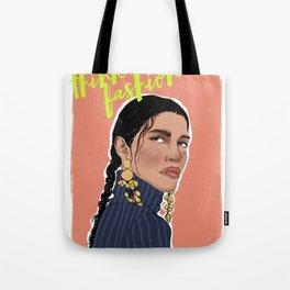 Think Fashion Illustration Tote Bag