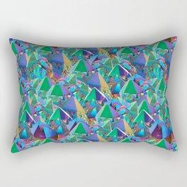 Crystal Shards in Oil Slick Rainbow Aura Rectangular Pillow