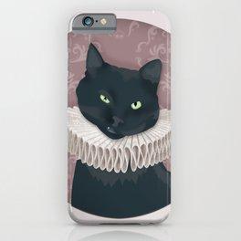 Renaissance Cat Portrait iPhone Case