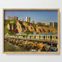 Lima Peru Coastal Scene Photo Serving Tray