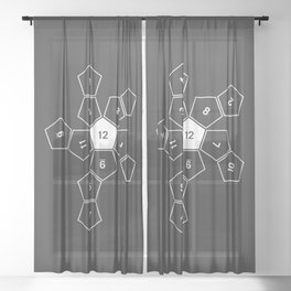 Grey Unrolled D12 Sheer Curtain