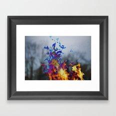 Fire II Framed Art Print