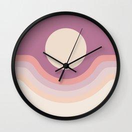 Lilac Rainbow Canyon Wall Clock