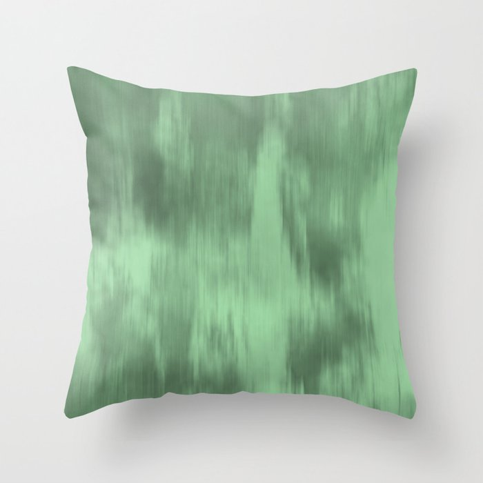 Pastel Mint Green Fusion Watercolor Blend Pairs to Coloro 2020 Color of the Year Neo Mint 065-80-23 Throw Pillow