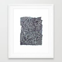zentangle Framed Art Prints featuring zentangle by Kesar Khinvasara