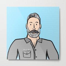 Beard Boy: Greg Metal Print