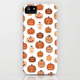 jack o' lanterns. (white variant) iPhone Case