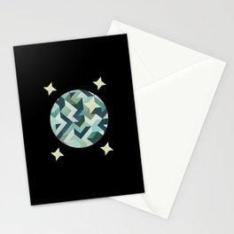 circle geometry (Black Background) Stationery Cards