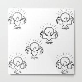 FreeBird Multi On White Metal Print